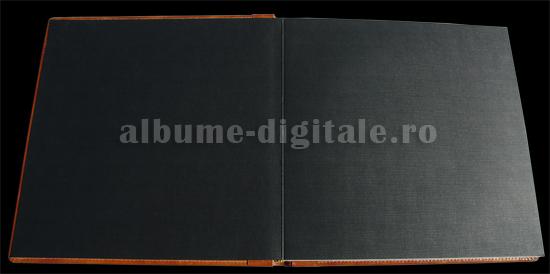album cu face-off - carton negru texturat