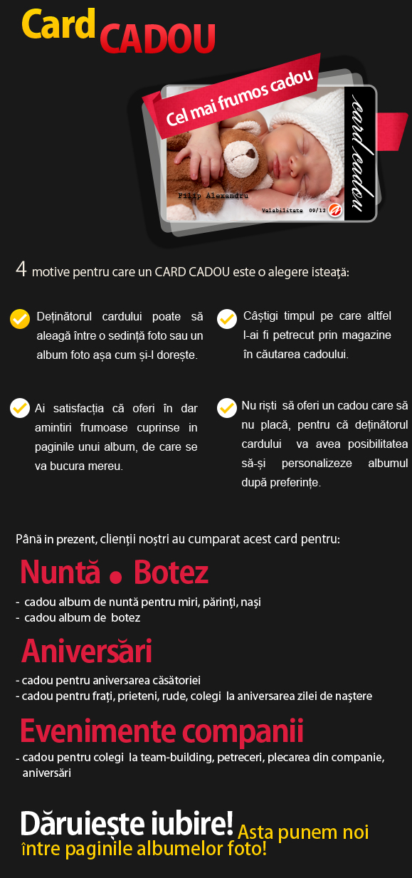 Card cadou - www.albume-digitale.ro